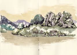 turkey and south east asia in sketches by faustine clavert