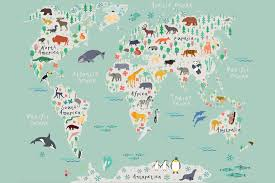safari kids map mural wallpaper muralswallpaper co uk