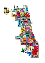 Neighborhoods In Chicago Map by Chicago Neighborhoods Map Print Poster Neightborhoods Chicago