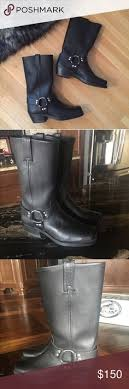 womens moto boots size 12 womens frye engineer 8r boots euc moto boots flaws and black