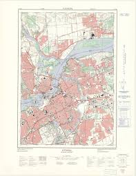 Ottawa Canada Map by Ottawa Ontario 1 25 000 Map Sheet 031g05g Ed 3 1971