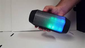blackweb lighted bluetooth speaker review craig electronics color changing bluetooth speaker cma3594 youtube