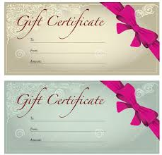 perfect format samples of gift voucher and certificate templates