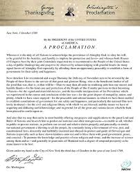 george washington s thanksgiving proclamation thanksgiving