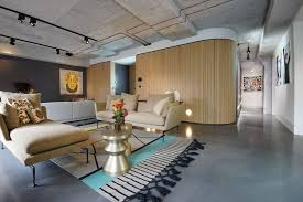 Industrial Home Interior Design Home Designs Concrete And Wood Interior Modern Warehouse