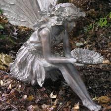 large sitting resin garden statue gardener
