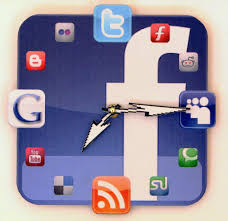 handmade facebook icon wall clock gadgetsin