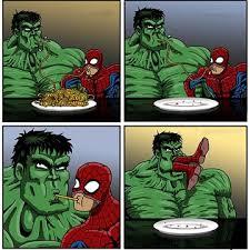 Memes De Hulk - caricaturas de hulk y spiderman super heroes marvel pinterest
