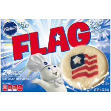 pillsbury halloween sugar cookies pillsbury ready to bake flag shape sugar cookies 24 ct box