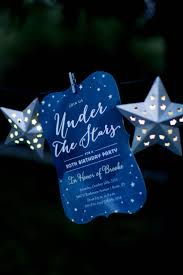 under the stars sweet 16 birthday party 4 x 8 invitation with