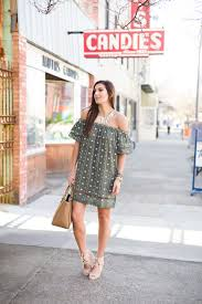green embroidered dress a southern drawl