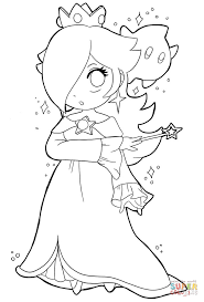 cute baby rosalina coloring free printable coloring pages