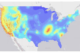 us geological earthquake map map of earthquakes around the