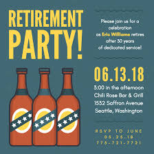 retirement party invitations with layouts canva