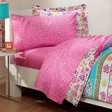 Girls Bed In A Bag by Retro Pink Blue Peace Sign U0026 Love Girls Bedding Twin Or Full