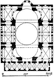 floor plan of hagia sophia plan of hagia sophia clipart etc