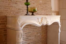 traditional fireplace mantel stone louis xv auberoche claire