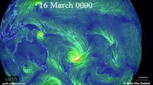 Earth Wind Map Cyclone Path Projection Youtube