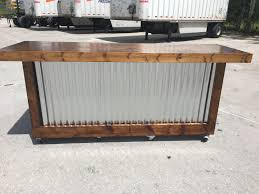 Mobile Reception Desk The Provincial 8 Foot Mobile Corrugated Metal Bar Sales Counter