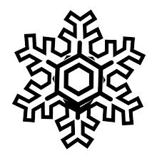 snowflake stylized black white art christmas xmas holiday