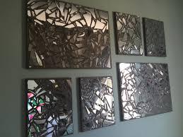awesome mirror mosaic wall art tanghome pcs love hearts wall decor