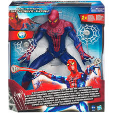marvel the amazing spider man motorized web shooting figure