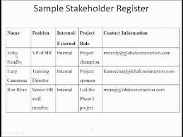project analysis report template stakeholder analysis