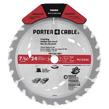 Best Circular Saw Blade For Laminate Flooring Shop Porter Cable 7 1 4 In 24 Tooth Standard Carbide Circular Saw