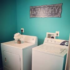 Laundry Room Decor Signs by Bright U0026 Beautiful Laundry Room Makeover Valspar Turquoise Tint