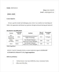 Resume Format For Mechanical Free Engineering Resume Templates 49 Free Word Pdf Documents