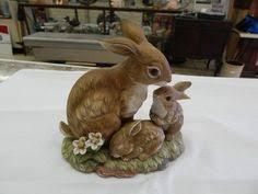 home interiors figurines vintage 1986 homco masterpiece porcelain running deer buck