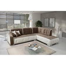 canapé d angle carré canapé d angle droit florida taupe et blanc top déco