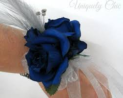 blue corsages for prom blue prom corsage etsy