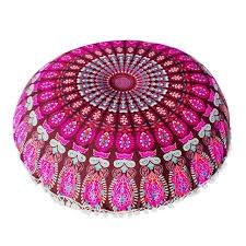 Ottoman Pillows Large Mandala Floor Pillows Bohemian Meditation Ottoman Pouf