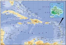 A Map Of The Caribbean by Antigua Film