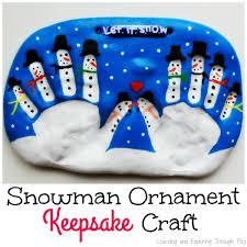 learning and exploring through play salt dough snowman keepsake for