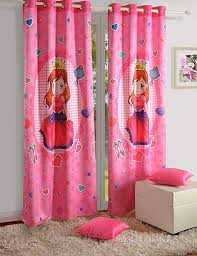 Pink Curtains For Girls Room Amazon Com Blackout Poly Satin Fabric Fairy Door Curtains Set