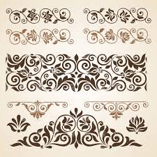 design clipart curly vintage design elements collection vector clipart createmepink