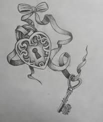 draw beautiful lock and key tattooshunter com