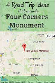 Cortez Colorado Map by Best 25 Four Corners Monument Ideas Only On Pinterest Four