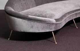 Ico Parisi Sofa Huge Italian Velvet Sofa In The Manner Of Ico Parisi Lomomomo