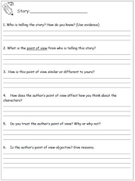 point of view worksheets 3rd grade mediafoxstudio com