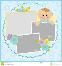 Baby Photo Album Baby Boy Announcement Template Stock Photo Image 4693960