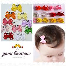 baby hair clip 50pcs lot fashion 2015 tiny baby girl infant solid ribbon bows