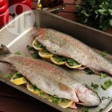 cuisiner truite au four truite arc en ciel farcie cuite au four recettes allrecipes québec