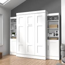 Murphy Bed Shelves Bestar Edge Murphy Wall Bed With 1 Door And 3 Shelf Attached