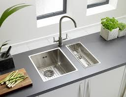 Onyx  Medium Bowl Flush Inset Sink Astracast - Brushed steel kitchen sinks