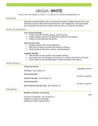 Best Internship Resumes by Finance Student Resume Best Resume Collection