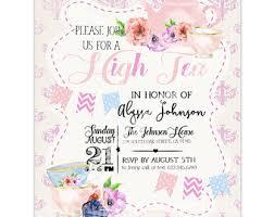 high tea invitation etsy