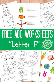 letter f worksheets free kids printable